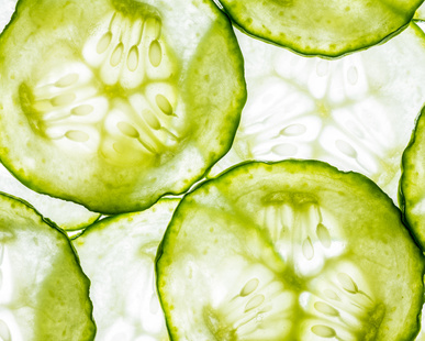 slices of cucumber -  macro detail