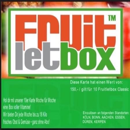 Jetzt die Fruitletbox 10er Karte sichern und bei jeder Classic Box sparen!