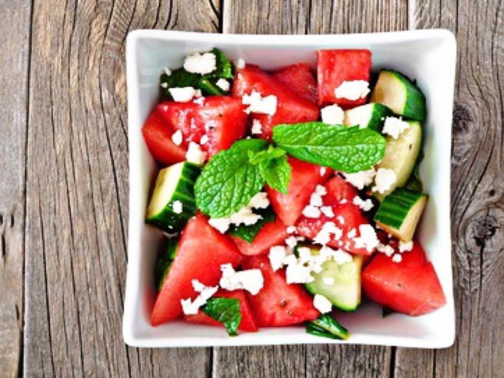 Wassermelonen Gurken - Salat