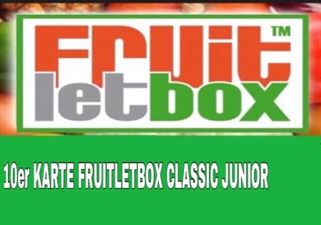 10er Karte -FRUITLETBOX CLASSIC JUNIOR