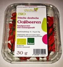 Fruitletbox-Frische deutsche Bio-Gojibeeren BIOLAND