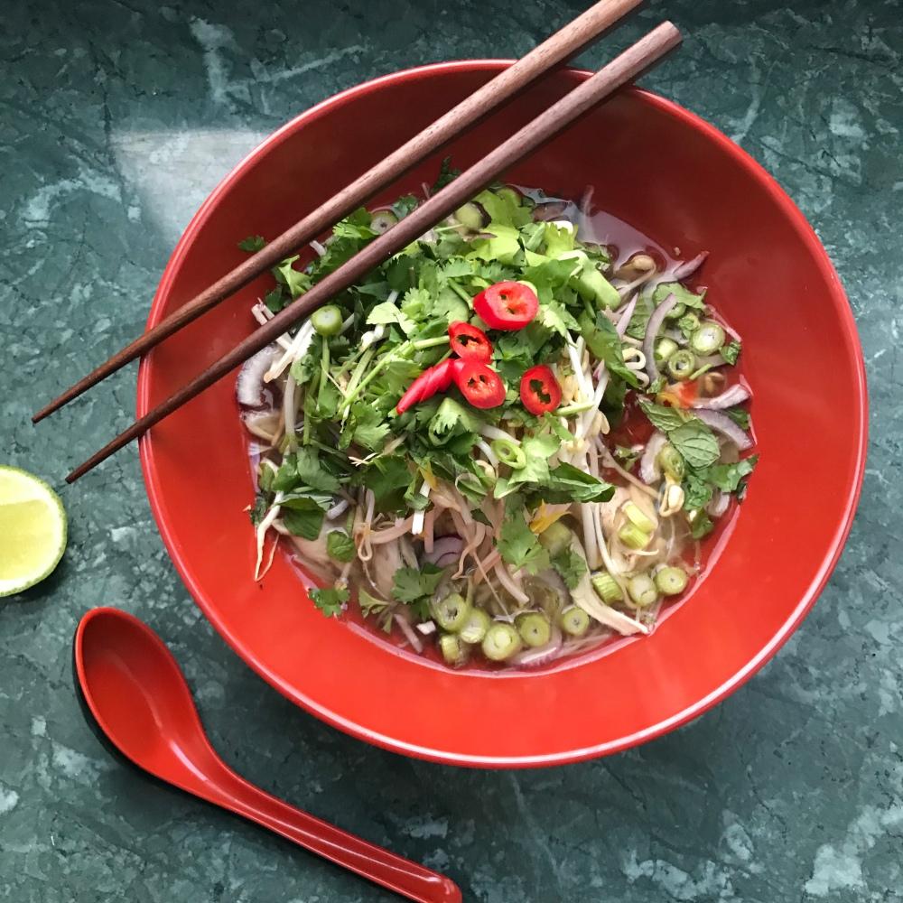 Schnelle Pho ga (Vietnamesische Nudelsuppe)