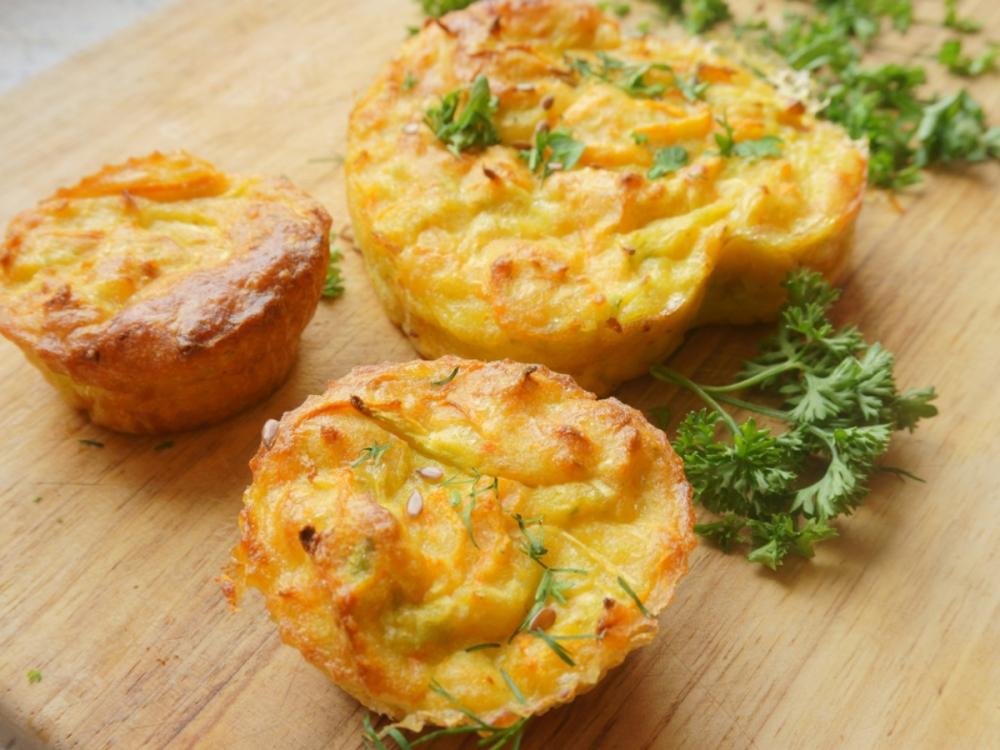 Fruitletbox Rezept - Kräuterbutter - Zwiebel - Muffins