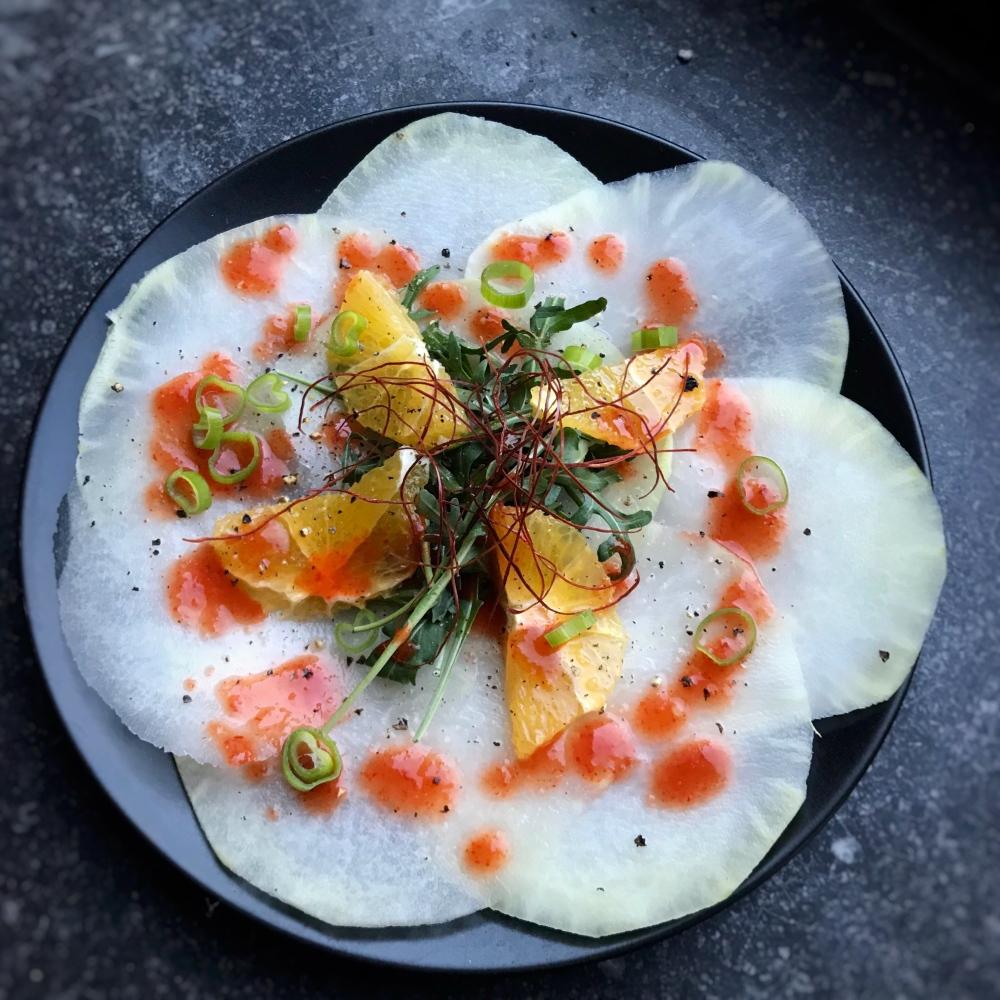 Fruitletbox Rezept - Kohlrabi-carpaccio mit fruchtig scharfem Dressing