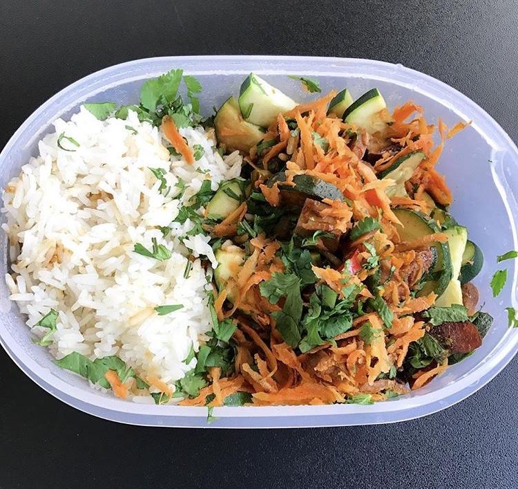 Fruitletbox-Schnelles Mittagessen (mealprep)