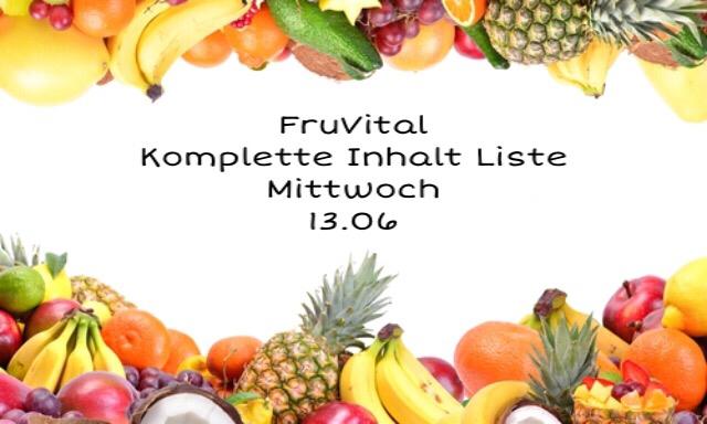 Fruitletbox FruVital Inhalte zum Wochenende (13./16.06.)